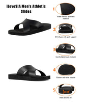 iLoveSIA Men's Athletic Slides Casual Sandals Daily Casual Shoes - iLoveSIA