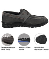 iLoveSIA Men's Comfortable Classic Loafer Canvas 2-Eye Boat Shoes-detail description