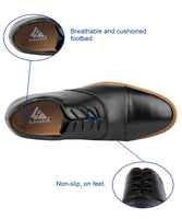 iLoveSIA Men's Comfortable Leather Cap Toe Dress Oxford Shoe - iLoveSIA