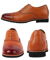 iLoveSIA Men's Leather Oxford Brogue Wingtip Dress Shoes
