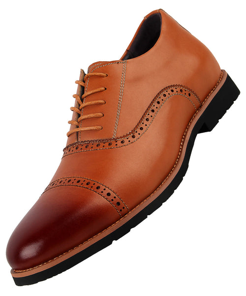 iLoveSIA Men's Leather Oxford Brogue Wingtip Dress Shoes - iLoveSIA