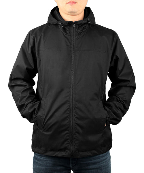 iLoveSIA Mens Lightweight Hooded Windproof Jacket - iLoveSIA