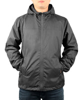 iLoveSIA Mens Lightweight Rain Coat Hooded Windproof