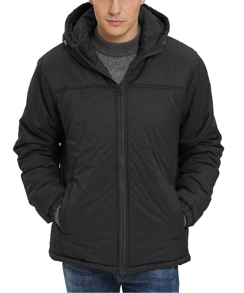 iLoveSIA Mens Winter Jacket Fuzzy Lining Hooded Jacket Windbreaker - iLoveSIA