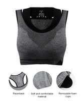 iLoveSIA Women's Sports Running Bra product detail drawing