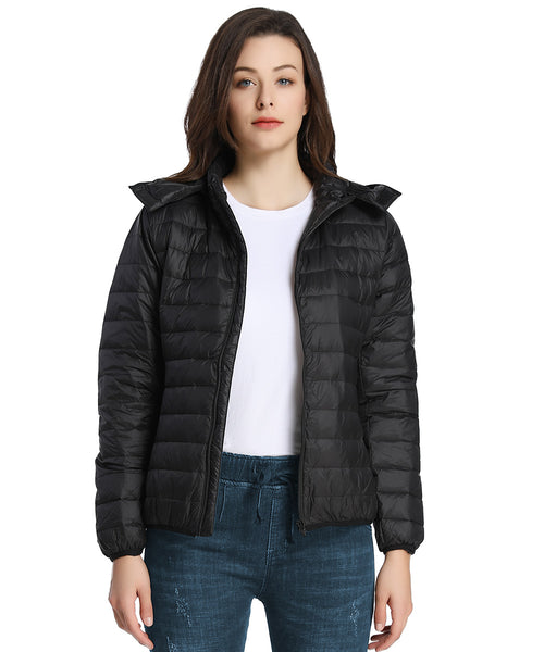iLoveSIA Womens Down Jacket Lightweight Hooded Jacket - iLoveSIA