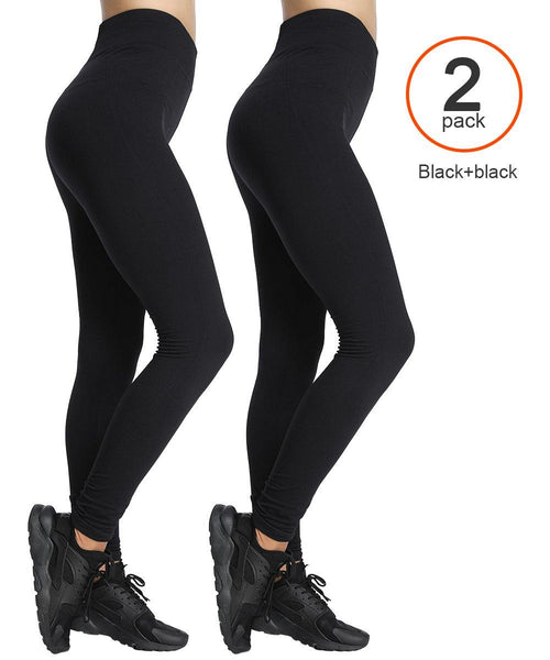 ILoveSIA athletic yoga leggings  Black+black