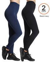iLoveSIA 2PACK Women Yoga Capri Pants, Fit Stretch Leggings with Inside Pocket