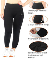 iLoveSIA Womens Workout Leggings Plus Size Runing Fitness Yoga Pants Pack of 2