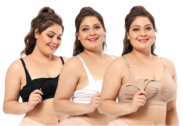 iLoveSIA Nursing Bra Plus Size breast feeding Bar Underwear 3PACK - iLoveSIA