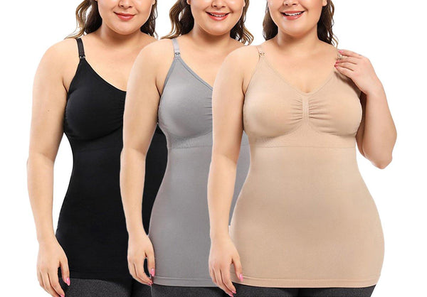 iLoveSIA 3PACK Plus Size comfortable breathable Nursing Tank Top - iLoveSIA