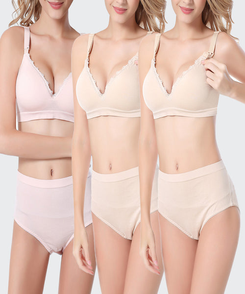 iLoveSIA 3Pack Full Cup Everyday Nursing Bra 7064