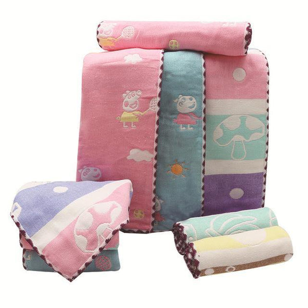iLoveSIA Baby/Kid/Children Towel Hand Wash Face Towel Cotton Cute Print - 3PCS 00-223 - iLoveSIA