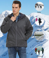 iLoveSIA Men's Lightweight Fleece-Lined Hooded Jacket - iLoveSIA