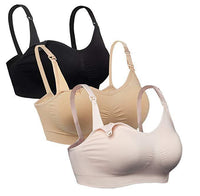 iLoveSIA Womens Full Bust adjustable Nursing Bra Black+nude+pink
