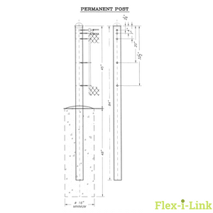 Flex-i-Link Permanent Tennis Net Posts - Flex-i-Link