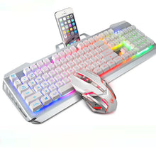 Load image into Gallery viewer, (Bundle) SADES Blademail V2 White Gaming Keyboard Backlit Water Resistant Wired USB 104 Keys + Multi Lights Gaming Mouse