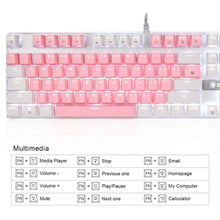 Load image into Gallery viewer, SADES K10 V2 Pink White Mechanical Blue Switches Gaming Keyboard