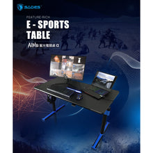Load image into Gallery viewer, SADES Alpha Carbon Fiber with USB Adjustable Professional Gaming Table