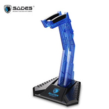 Load image into Gallery viewer, Sades Gaming Headphone Stand Holder Acrylic Desk Headphone Hanger