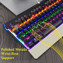Load image into Gallery viewer, SADES Thunder Blade Mechanical Blue Switches Multi Backlit Professional Gaming K