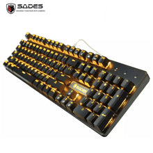 Load image into Gallery viewer, SADES K10 Orange Real Mechanical Blue Switches Gaming Keyboard