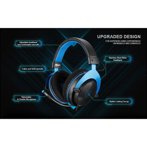 SADES Mpower Blue Gaming Headset 3.5mm For PC/Laptop/PS4/Xbox One(2015 version)/Mobile/VR/Nintendo Switch