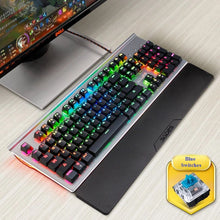Load image into Gallery viewer, SADES MoonStar V2 RGB Light Mechanical Blue Switches Metal Panel 104 Keys Wired Gaming Keyboard