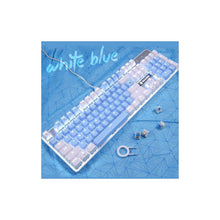 Load image into Gallery viewer, SADES BaleFire V2 Blue White Mechanical Blue Switches 104 Keys Wired USB Gaming Keyboard
