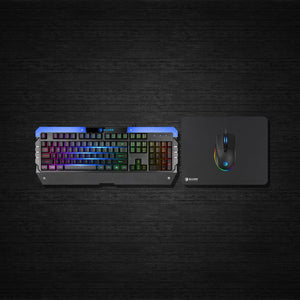 (Bundle) SADES Battle Ram RGB Combo with Waterproof RGB Gaming Keyboard and RGB Customized Functions Gaming Mouse and Soft Mousepad