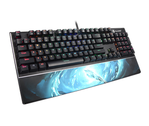 SADES Frost Staff (LK Mechanical Switches & Waterproof) Professional Gaming Keyboard 104 Keys USB Wried Wrist Rest
