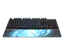 Load image into Gallery viewer, SADES Frost Staff (LK Mechanical Switches & Waterproof) Professional Gaming Keyboard 104 Keys USB Wried Wrist Rest
