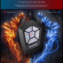 Load image into Gallery viewer, SADES Spellond Pro Bongiovi Acoustics Deep Base Professional Gaming Headphone