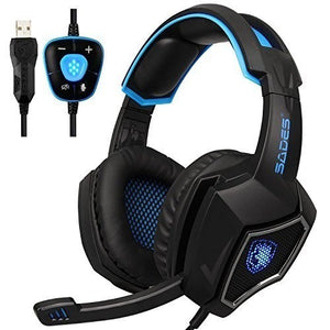 SADES 7.1 Surround Sound only USB Gaming Headset with mic (Black)