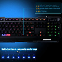 Load image into Gallery viewer, (Bundle) SADES Blademail Wired Gaming Keyboard with Flash Wing Mouse 19 non-conflict keys, Metal Material, 7 Colors Blacklight