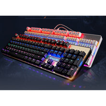 Load image into Gallery viewer, (Bundle) SADES BaleFire White Blue Switches 9 Backlight Modes 104 Keys Real Mechanical Keyboard with Gaming Mouse