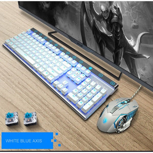 SADES Ice Shadow Mechanical Blue Switches Alloy Metal Gaming Keyboard