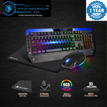 Load image into Gallery viewer, (Bundle) SADES Battle Ram RGB Combo with Waterproof RGB Gaming Keyboard and RGB Customized Functions Gaming Mouse and Soft Mousepad