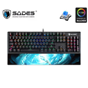 SADES Frost Staff (LK Mechanical Switches & Waterproof) Professional Gaming Keyboard