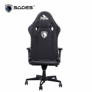 SADES Pegasus (White) Professional High Quality Leather Gaming Office Chair