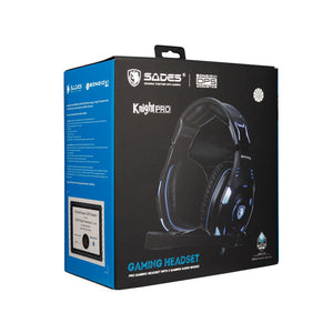 SADES Knight Pro Gaming Headset Professional Noise-cancelling BONGIOVI Audio Engine Deep Bass Headphones for E-sport