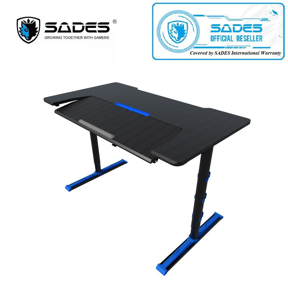 SADES Alpha Carbon Fiber with USB Adjustable Professional Gaming Table