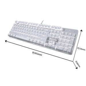 SADES K10 V2 White Light Mechanical Blue Switches Professional Gaming Keyboard