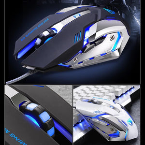 (Bundle) SADES Thunder Blade Mechanical Blue Switches Professional Gaming Keyboard + Gaming Mouse