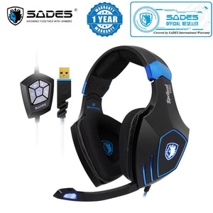 SADES Spellond Pro Bongiovi Acoustics Deep Base Professional Gaming Headphone