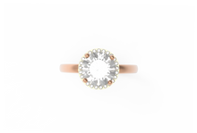 Load image into Gallery viewer, Halo Diamond Engagement Ring | Dearest