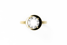 Load image into Gallery viewer, Moon Diamond Engagement Ring | Dearest