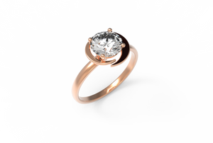 Moon Diamond Engagement Ring | Dearest