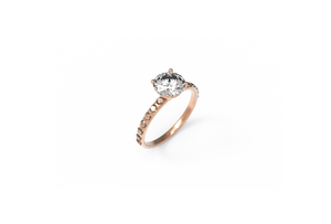 Pavé Diamond Engagement Ring | Dearest