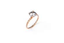 Load image into Gallery viewer, Rope Diamond Engagement Ring | Dearest